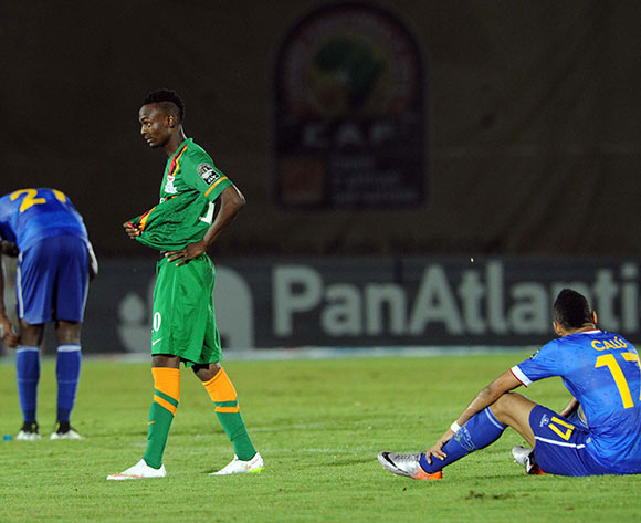 Zambia and Cape Verde dejected after the match during of the 2015 Africa Cup of Nations match between Cape Verde and Zambia at Ebibeyin Stadium, Equatorial Guinea on 26 January 2015 Pic Sydney Mahlangu/BackpagePix
