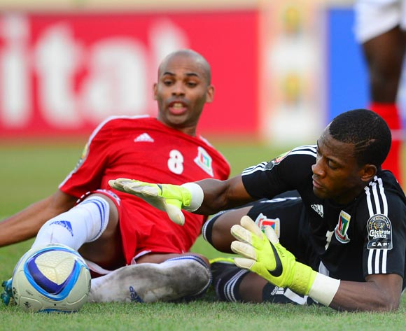 Felipe Ovono of Equatorial Guinea makes a save during the 2015 Africa Cup of Nations 3rd Place football match between DR Congo and Equatorial Guinea at the Malabo Stadium in Malabo, Equatorial Guinea on 7 February 2015