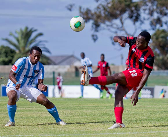 Philani Zulu of Maritzburg United during the Absa Premiership football Match between Chippa United and Maritzburg United at the Issac Wolfson Stadium Port Elizabeth on 13 February 2015 © Michael Sheehan/BackpagePix