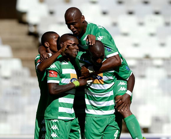 Lerato Lamola of Bloemfontein Celtic celebrate his goal during the Absa Premiership match between Bloemfontein Celtic FC and Amazulu FC. at the Free State Stadium  on 15 February 2015.