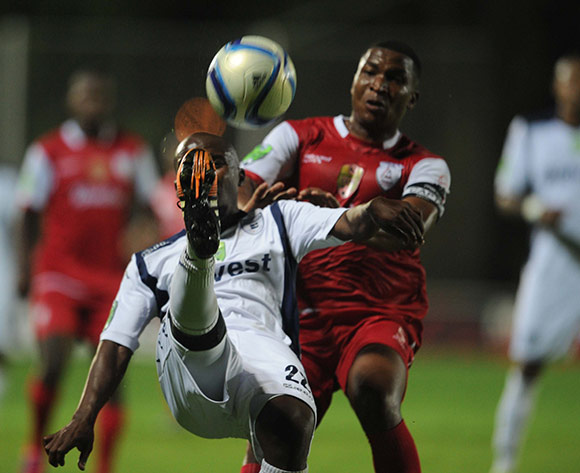 Sandile Zuke of Bidvest Wits battles with Paulus Masehe of Free State Stars  during the Nedbank Cup Last 32 match between Bidvest Wits and Free State Stars on 21 February 2015 at Bidvest Stadium  Pic Sydney Mahlangu/BackpagePix