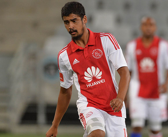 Abbubaker Mobara of Ajax Cape Town during the Absa Premiership 2014/15 football match between Ajax Cape Town and Chippa United at Cape Town Stadium, Cape Town on 27 February 2015 ©Chris Ricco/BackpagePix