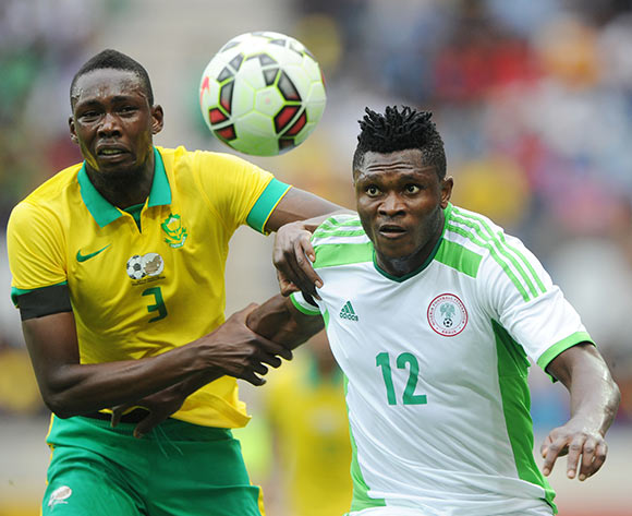 Eagles striker Olanare Aaron Samuel (right)