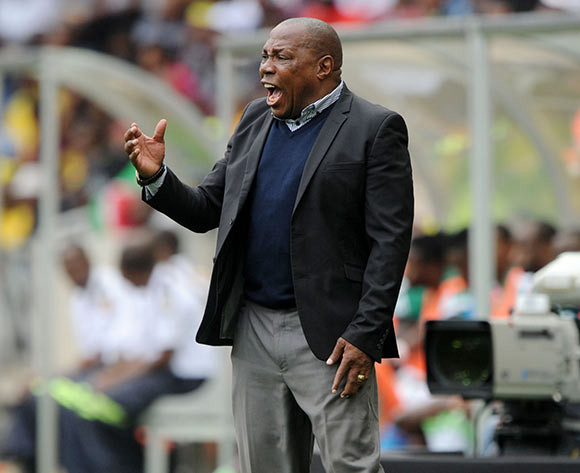 Shakes Mashaba, coach of South Africa during the International Friendly match between South Africa and Nigeria at the Mbombela Stadium, Mbombela on the 29 March 2015  ©Muzi Ntombela/BackpagePix