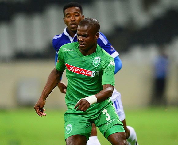 Goodman Dlamini of Amazulu during the Absa Premiership Football match between Mpumalanga Black Aces and AmaZulu at the Mbombela Stadium in Nelspruit on March 7, 2015  ©Barry Aldworth/BackpagePix