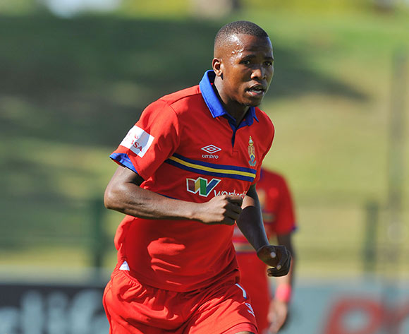 Thabo Mosadi of University Pretoria during the Absa Premiership 2014/15 football match between University of Pretoria and Maritzburg United at the Tuks Stadium in Pretoria, South Africa on March 08, 2015 ©Samuel Shivambu/BackpagePix