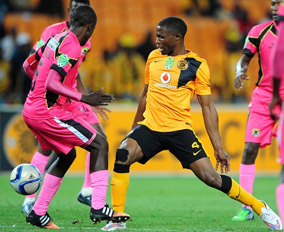 David Zulu of Kaizer Chiefs challenged by Harry Nyirinda of Black Leopards during the 2015 Nedbank Cup match between Kaizer Chiefs and Black Leopards at the FNB Stadium, Johannesburg on the 21 March 2015  ©Muzi Ntombela/BackpagePix
