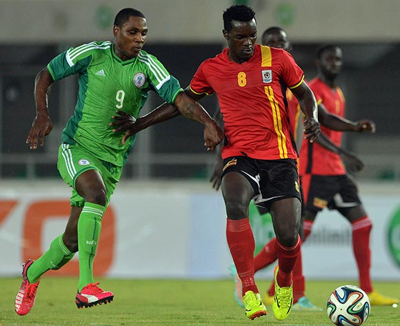 Eagles striker Ighalo goes for goal vs Uganda on his debut