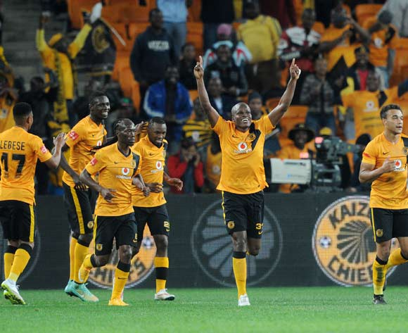 Bernard Parker of Kaizer Chiefs celebrates his goal with teammates during the Absa Premiership 2014/15 match between Kaizer Chiefs and Polokwane City at the FNB Stadium, Johannesburg on the 21 April 2015