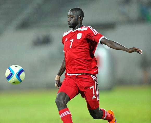 Deon Hotto of Namibia during the 2015 Cosafa Cup final match between Namibia and Mozambique at the Moruleng Stadium in Rustenburg, South Africa on May 30, 2015 ©Samuel Shivambu/BackpagePix