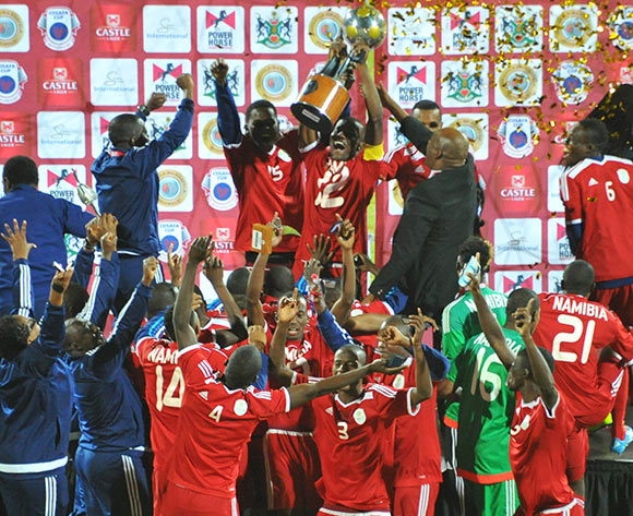 Namibia winners of the 2015 Cosafa Cup final match between Namibia and Mozambique at the Moruleng Stadium in Rustenburg, South Africa on May 30, 2015 ©Samuel Shivambu/BackpagePix