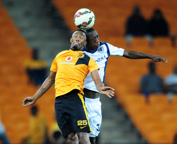 Bernard Parker of Kaizer Chiefs battles with Siyabonga Nhlapho of Bidvest Wits during the Absa Premiership 2014/15 match between Kaizer Chiefs and Bidvest Wits at the FNB Stadium, Johannesburg on the 06 May 2015
