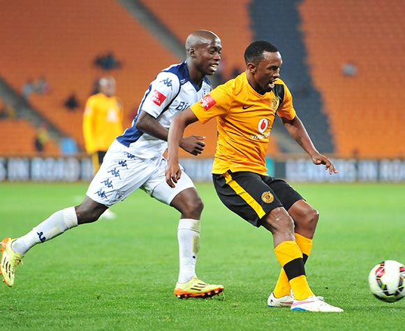 Bernard Parker of Kaizer Chiefs challenged by Ben Motshwari of Bidvest Wits during the Absa Premiership 2014/15 match between Kaizer Chiefs and Bidvest Wits at the FNB Stadium, Johannesburg on the 06 May 2015  ©Muzi Ntombela/BackpagePix