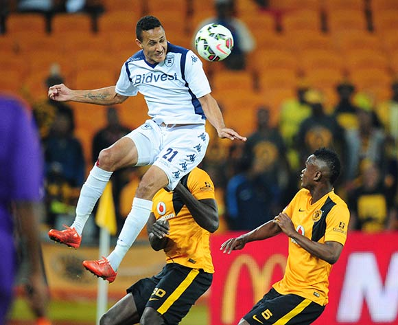 Henrico Botes of Bidvest Wits challenged by Siboniso Gaxa of Kaizer Chiefs  during the Absa Premiership 2014/15 match between Kaizer Chiefs and Bidvest Wits at the FNB Stadium, Johannesburg on the 06 May 2015  ©Muzi Ntombela/BackpagePix