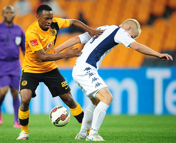 Bernard Parker of Kaizer Chiefs battles with Markus Lecki of Bidvest Wits during the Absa Premiership 2014/15 match between Kaizer Chiefs and Bidvest Wits at the FNB Stadium, Johannesburg on the 06 May 2015  ©Muzi Ntombela/BackpagePix