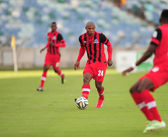 during the Absa Premiership match between AmaZulu and Maritzburg United FC at the Moses Mabhida Stadium in Durban, South Africa on May 09, 2015 ©Gerhard Duraan/BackpagePix