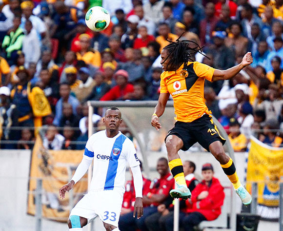 Simphiwe Mtsweni of Kaizer Chiefs  geads the ball during the Absa Premiership football Match between Chippa United and Kaizer Chiefs  at the Nelson Mandela Bay Stadium on 9 May 2015 © Michael Sheehan/BackpagePix