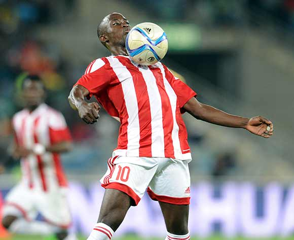 Modou Barrow of Gambia during 2017 Afcon Qualifier match between South Africa and Gambia  on 13 June 2015 at Moses Mabhida Stadium Pic Sydney Mahlangu/BackpagePix