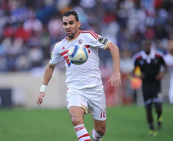 Ahmed Eid of Zamalek   during the 2015 CAF Confederation Cup match between Orlando Pirates and Zamalek on 11 July 2015 at Mbombela StadiumPic Sydney Mahlangu/BackpagePix