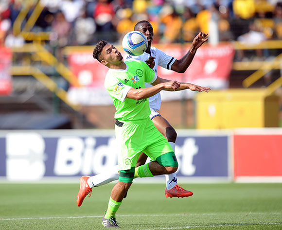Toriq Losper of Ajax Cape Town is tackled by Siyabonga Nhlapo of Bidvest Wits  during the MTN8 Semi Final 2nd Leg between Bidvest Wits and Ajax Cape Town on 30 August 2015 at Bidvest Stadium Pic Sydney Mahlangu/ BackpagePix