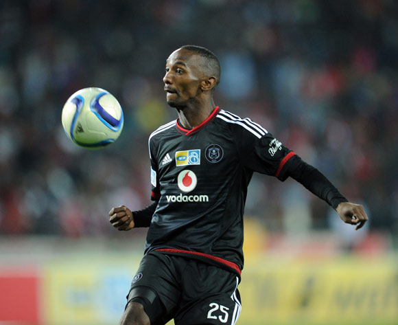 Thabo Rakhale of Orlando Pirates during the MTN8 Quarter Final match between Orlando Pirates and Ajax Cape Town on 04 August 2015 at Orlando Stadium