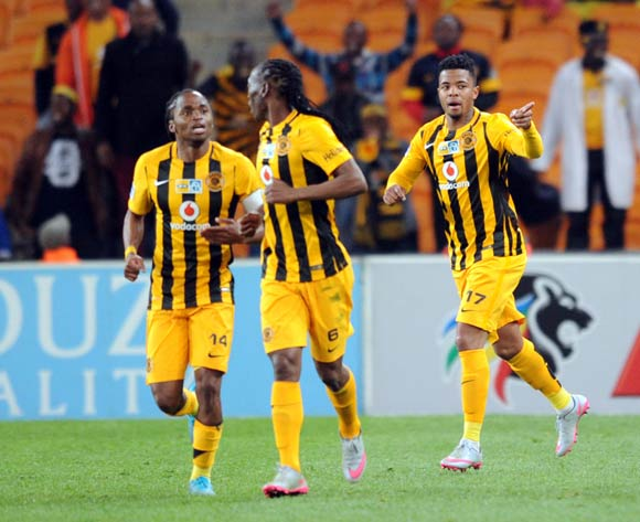 George Lebese of Kaizer Chiefs (17) celebrates a goal   during the MTN8 Quarter Final between Kaizer Chiefs and Maritzburg United on 05 August 2015 at FNB Stadium