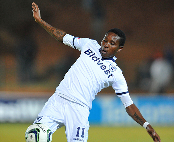 Elias Pelembe of Bidvest Wits during the Absa Premiership match between Bidvest Wits and Ajax Cape Town at the Bidvest Stadium in Johannesburg, South Africa on August 08, 2015 ©Samuel Shivambu/BackpagePix