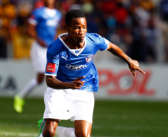 Joseph Malongoane of Chippa United chases after the ball during the Absa Premiership football Match between Chippa United and Kaizer Chiefs at the Nelson Mandela Bay Stadium on 9 August 2015 © Michael Sheehan/BackpagePix