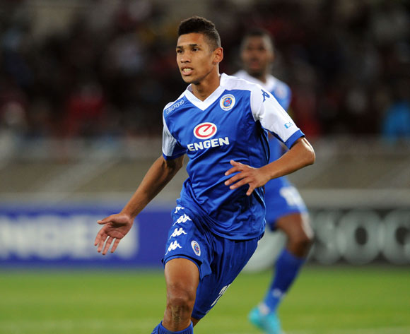 Denwin Farmer of Supersport United during the Absa Premiership match between Supersport United and Orlando Pirates on 11 August 2015 at Peter Mokaba Stadium