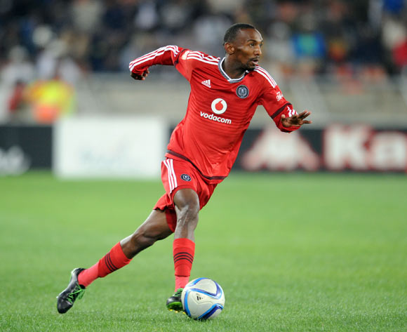 Thabo Rakhale of Orlando Pirates  during the Absa Premiership match between Supersport United and Orlando Pirates on 11 August 2015 at Peter Mokaba Stadium
