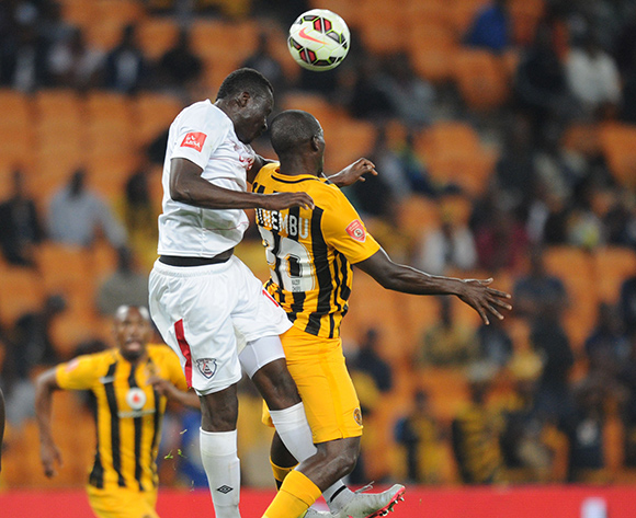 Robert Sankara of Free State Stars challenges for the ball with Bernard Parker of Kaizer Chiefs  during the Absa Premiership match between Kaizer Chiefs and Free State Stars  on 22 August 2015 at FNB Stadium Pic Sydney Mahlangu/ BackpagePix