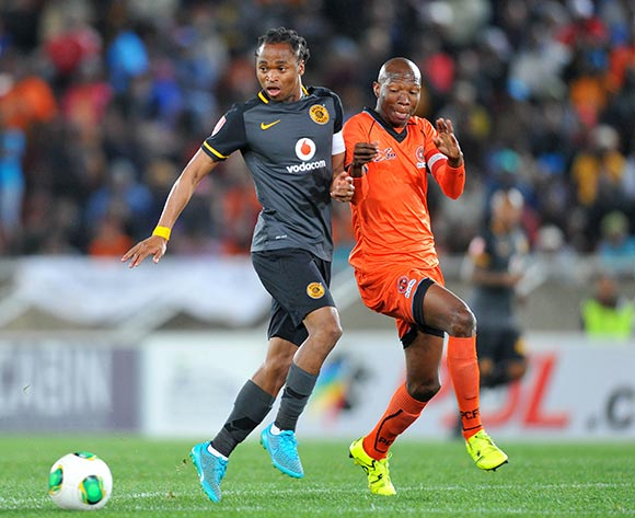 Siphiwe Tshabalala of Kaizer Chiefs challenged by Jabulani Maluleke of Polokwane City during the Absa Premiership match between Polokwane City and Kaizer Chiefs at the Peter Mokaba Stadium in Limpopo, South Africa on August 25, 2015 ©Samuel Shivambu/BackpagePix