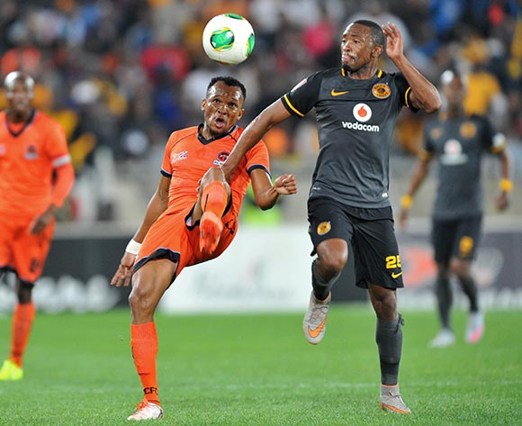 Punch Masenamela of Polokwane City challenged by Bernard Parker of Kaizer Chiefs during the Absa Premiership match between Polokwane City and Kaizer Chiefs at the Peter Mokaba Stadium in Limpopo, South Africa on August 25, 2015 ©Samuel Shivambu/BackpagePix