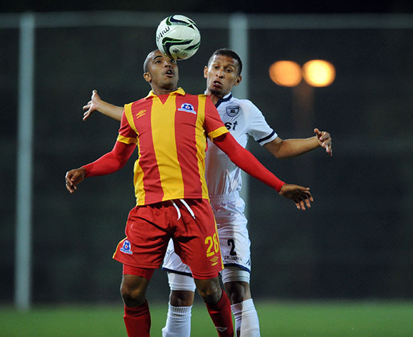 Deolin Mekoa of Maritzburg United is challenged by Nazeer Allie of Bidvest Wits during the Absa Premiership match between Bidvest Wits and Maritzburg United  on 26 August 2015 at Bidvest Stadium Pic Sydney Mahlangu/ BackpagePix