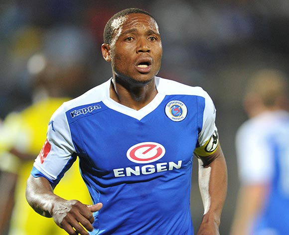 Thuso Phala of Supersport United during the Absa Premiership match between SuperSport United and Jomo Cosmos at the Lucas Moripe Stadium in Pretoria, South Africa on August 26, 2015 ©Samuel Shivambu/BackpagePix