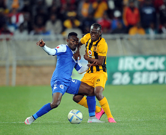 Dove Wome of Supersport United is challenged by Reneilwe Lertsholonyane of Kaizer Chiefs  during the Absa Premiership match between Supersport United and Kaizer Chiefs  on 12 September 2015 at Peter Mokaba Stadium Pic Sydney Mahlangu/ BackpagePix