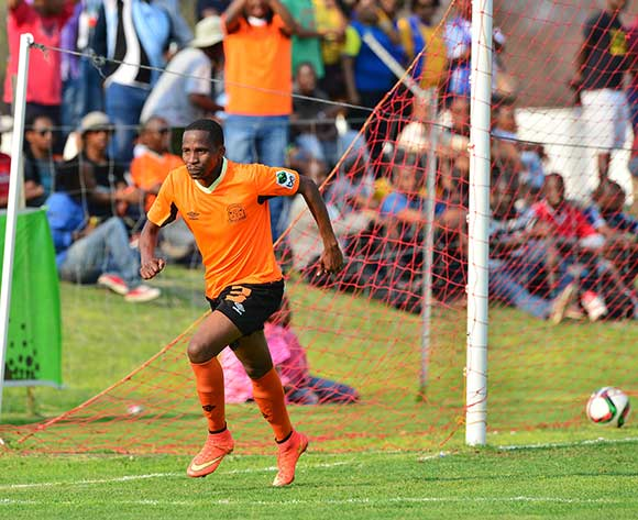 Patrick Motsepe of Orapa celebrates goal during the 2015/16 beMobile Premiership football match between Galaxy and Orapa United at the Jwaneng Stadium, in Jwaneng, Botswana on 13  September 2015 ©Gavin Barker/BackpagePix
