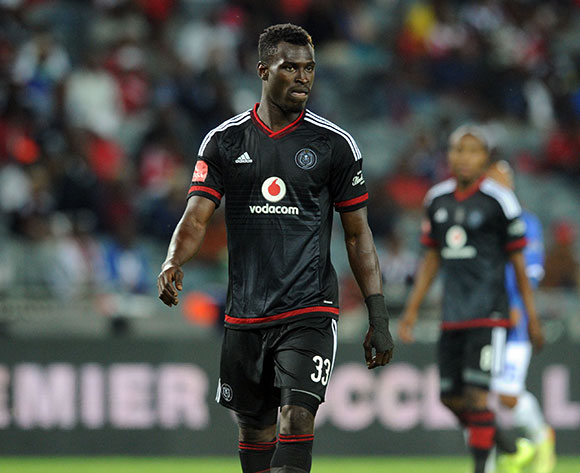 Edwin Gyimah of Orlando Pirates during the Absa Premiership match between Orlando Pirates and Black Aces  on 18 September 2015 at Orlando Stadium Pic Sydney Mahlangu/ BackpagePix