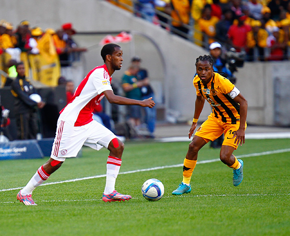 Mosa Lebusa of Ajax Cape Town marked by Siphiwe Tshabalala of Kaizer Chiefs during the 2015 MTN 8 Final football match between Ajax Cape Town and Kaizer Chiefs at Nelson Mandela Bay Stadium, Port Elizabeth, 19 September 2015  ©Michael Sheehan/BackpagePix