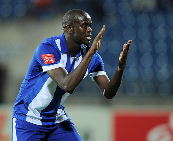 Kwanda Mngonyama of Maritzburg United during the Absa Premiership 2015/16 match between Maritzburg United and Free State Stars at Harry Gwala Stadium, Pietermaritzburg on the 22 September 2015 ©Muzi Ntombela/BackpagePix