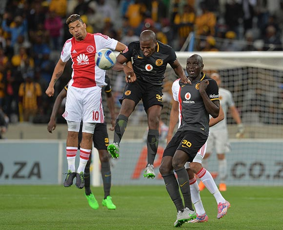 Toriq Losper of Ajax Cape Town battles for the ball with Willard Katsande of Kaizer Chiefs during the Absa Premiership 2015/16 football match between Ajax Cape Town and Kaizer Chiefs at Cape Town Stadium, Cape Town, 26 September 2015  ©Chris Ricco/BackpagePix