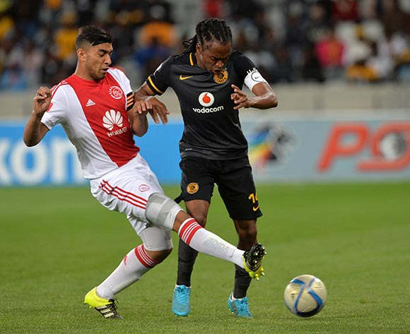 Siphiwe Tshabalala of Kaizer Chiefs tackled by Travis Graham of Ajax Cape Town during the Absa Premiership 2015/16 football match between Ajax Cape Town and Kaizer Chiefs at Cape Town Stadium, Cape Town, 26 September 2015  ©Chris Ricco/BackpagePix