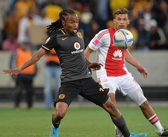 Siphiwe Tshabalala of Kaizer Chiefs evades challenge from Toriq Losper of Ajax Cape Town during the Absa Premiership 2015/16 football match between Ajax Cape Town and Kaizer Chiefs at Cape Town Stadium, Cape Town, 26 September 2015  ©Chris Ricco/BackpagePix