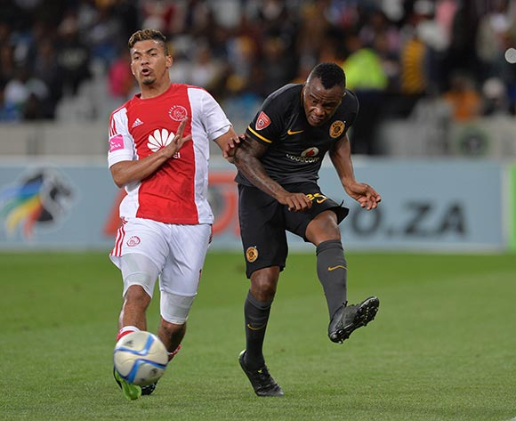 Tsepo Masilela of Kaizer Chiefs evades challenge from Toriq Losper of Ajax Cape Town during the Absa Premiership 2015/16 football match between Ajax Cape Town and Kaizer Chiefs at Cape Town Stadium, Cape Town, 26 September 2015  ©Chris Ricco/BackpagePix