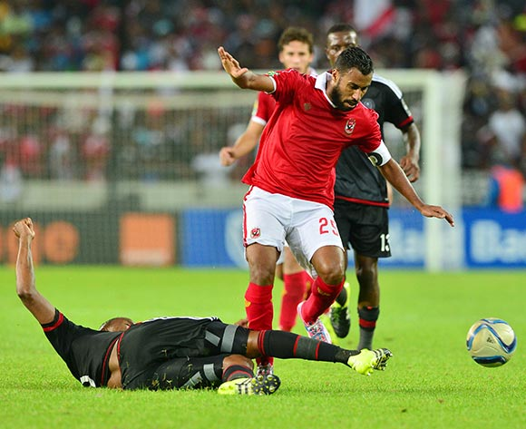 Al Ahly's Hossam Ashour in continental action against Orlando Pirates