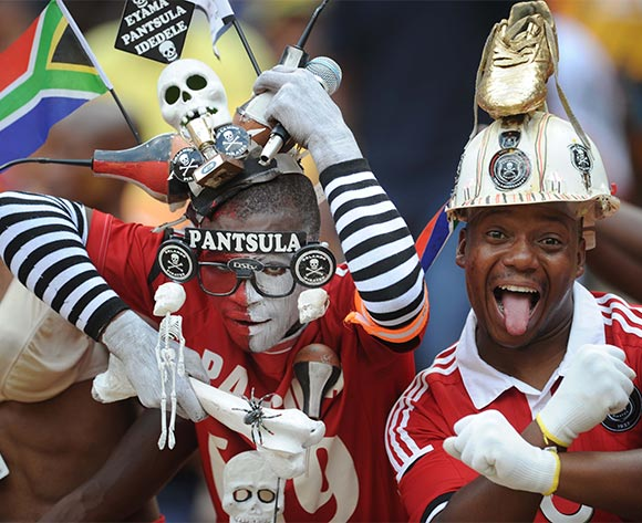 Orlando Pirates Fans during the Absa Premiership match between Kaizer Chiefs and Orlando Pirates  on 31 October 2015 at FNB Stadium Pic Sydney Mahlangu/ BackpagePix