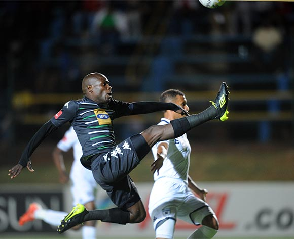 Lerato Lamola of Bloemfontein Celtic challenges Nazeer Allie of Bidvest Wits during the Absa Premiership match between Bidvest Wits and Bloemfontein Celtic  on 31 October 2015 at Bidvest Stadium Pic Sydney Mahlangu/ BackpagePix