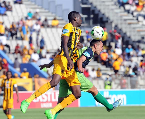 Erick Mathoho of Kaizer Chiefs challenges  Eleazer Rodgers of Platinum Stars during the Telkom Knockout Last16 match between Platinum Stars and Kaizer Chiefs on 04   October at Moruleng Stadium  Pic Sydney Mahlangu/ BackpagePix
