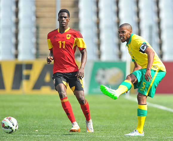 Wandile Letlabika of South Africa during the CHAN 2016 Qualifiers match between South Africa and Angola at the Rand Stadium in Johannesburg, South Africa on October 17, 2015 ©Samuel Shivambu/BackpagePix