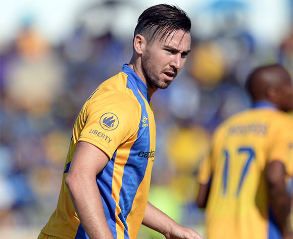 Carl Finnigan of  Township Rollers  during the beMobile Premiership match between Township Rollers and Mochudi Centre Chiefs at the national stadium in Gaborone on 25 October 2015.  Backpagepix/Monirul Bhuiyan